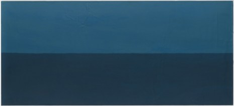 Untitled, 1988. Acrylic on lead laid down on panel, 35 7/16 x 78 3/4 (90 x 200 cm)