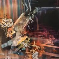 Autumn / Fall Colour (Shards), 2015, 152 cm x 152 cm. Mixed media on canvas
