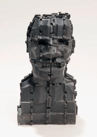 Eduardo Paolozzi, Mondrian Head, 1993, bronze. Wakefield Council Permanent Art Collection.