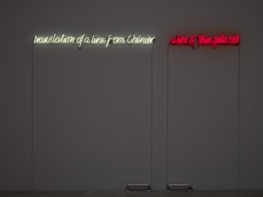Translation of a Line from Chenier: A Line of Thin Pale Red, 1989