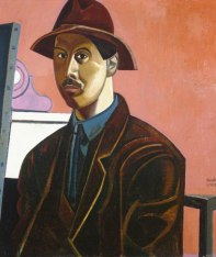 Wyndham Lewis: Portrait of the Artist as the Painter Raphael, 1921, Bridgeman Images photo credit: Manchester City Galleries