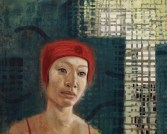 Chinese Swimmer Three, 2014, oil and wax on canvas