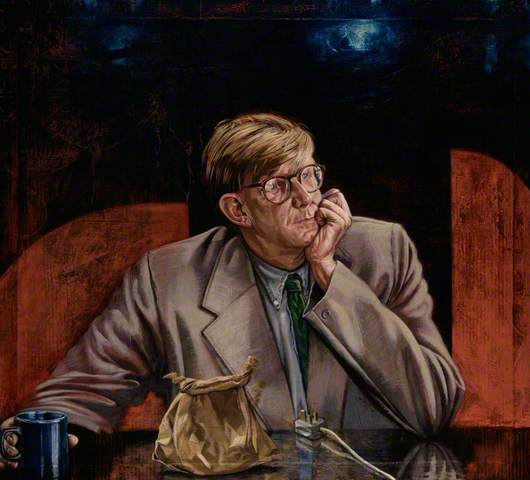 Alan Bennett, 1993. Oil on canvas laid on panel, 110.5 x 122 cm. Portrait Gallery, London