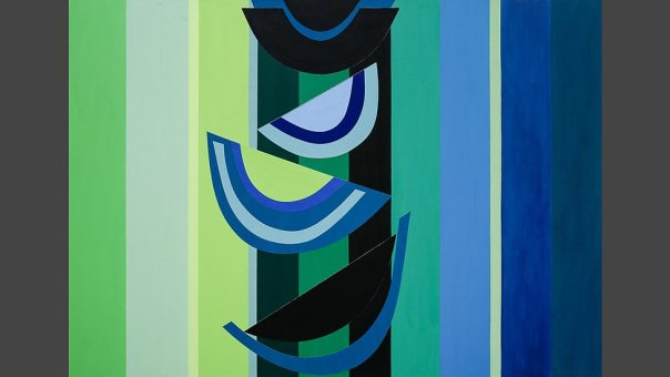 Green Below, 2003, acrylic paint, collage on canvas