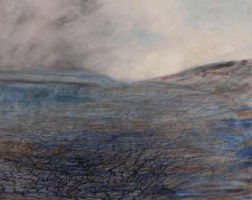 """Namarskarth, Iceland. """"The magma is only a kilometer underground, so watch out for bubbling mud pots."""" Oil on canvas"""