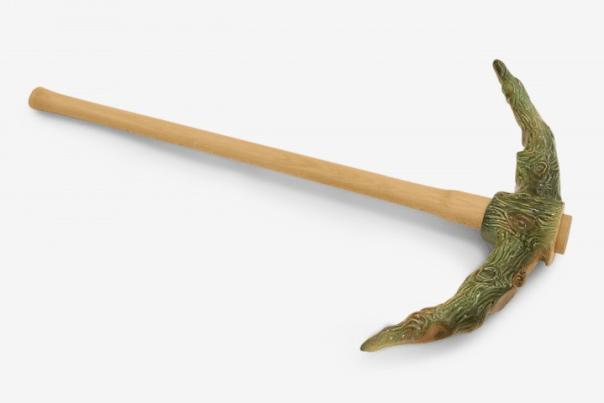 Pickaxe, 2010, ceramic, pickaxe handle/ length 87cm
