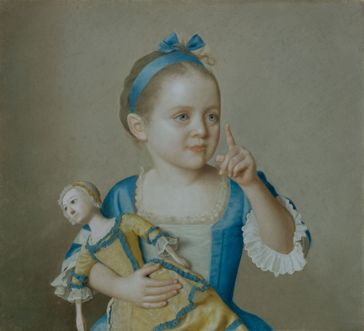 Marie-Anne Françoise Liotard with a Doll, c. 1744