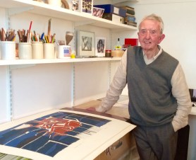 Peter in his studio, 2015
