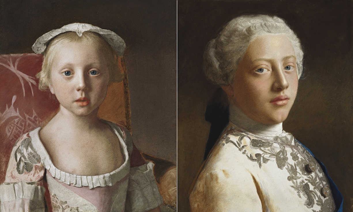 Princess Louisa Anne, left, and her brother, George, Prince of Wales, 1754