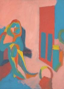 Untitled (seated figure), 1967, oil on canvas