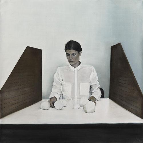 Eleana Antonaki: J, 2015. Oil on canvas, 1450 x 1450mm