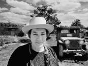 Agnes Martin near her house in Cuba, New Mexico, 1974. Photo: Gianfranco Gorgoni