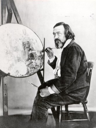 Dadd in Bethlem, painting Contradiction, c1875, photographed by Henry Hering. Photograph: Bethlem Museum of the Mind