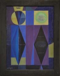 Luis Martínez Pedro: Sin Título (Untitled), 1951. Oil on canvas, 27 x 19 3/4 x 2 inches (68.5 x 50 x 5 cm)