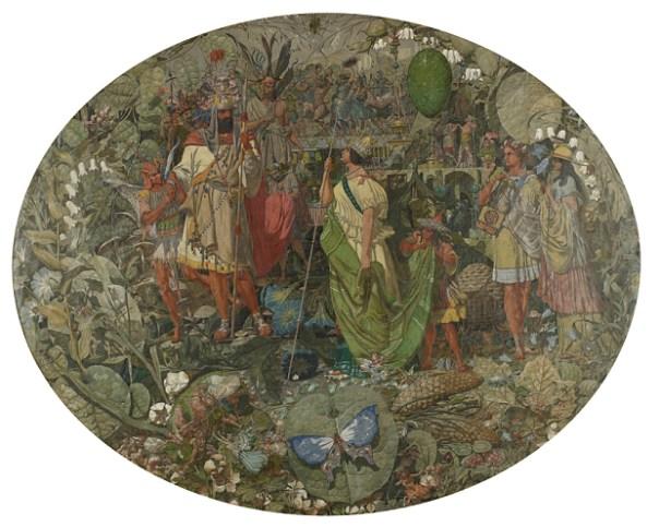 Contradiction. Oberon and Titania (1854-8). Oil on canvas
