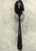 The Spoon, 1975, aquatint, 18 x 13 cm