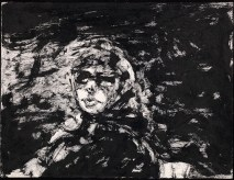 Anne Wearing Sunglasses, 1967. Sumi ink on paper, 27 x 35.8 cm