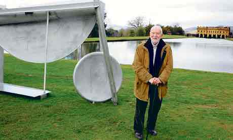 "The Guardian, 16 March 2012: ""Anthony Caro: a life in sculpture."" Photograph: Eamonn McCabe."