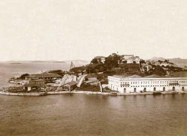 Cobras Island, in Guanabara Bay, c. 1893/4, photographed by Juan Gutierrez