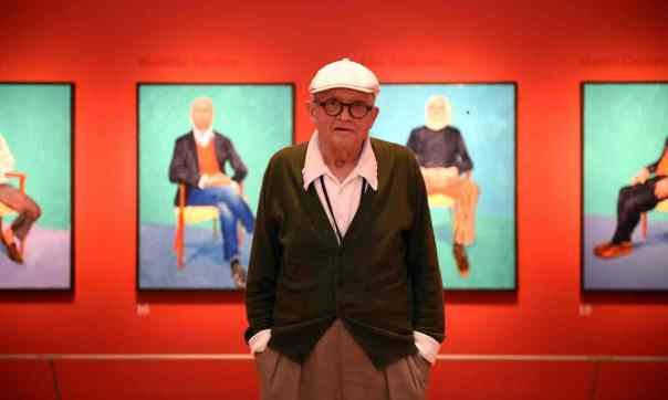 "The Guardian, 27 June 2016: ""David Hockney RA: 82 Portraits and 1 Still-life review – 'We can feel Hockney's deafness'."" Photograph: Andrew Matthews."