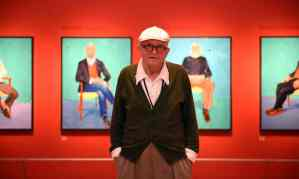 """The Guardian, 27 June 2016: """"David Hockney RA: 82 Portraits and 1 Still-life review – 'We can feel Hockney's deafness'."""" Photograph: Andrew Matthews."""