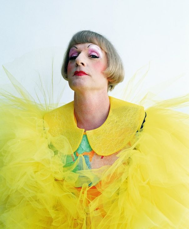 """Photograph: Tim Walker for The Guardian, 8 October 2014: """"Grayson Perry: 'Just because you don't have a dress on doesn't stop you being a tranny'"""", by Simon Hattenstone"""