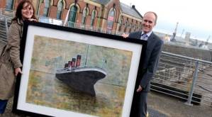 "Belfast Telegraph, 2009: ""Unique painting set to raise money for charity."""