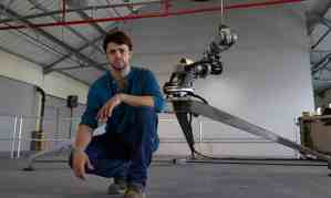 """Photo by Andy Hall for the Observer, 12 October 2014: """"The Royal Academy artist explains why he turned an industrial robot into a dancer – and his debt to Byron's daughter."""""""