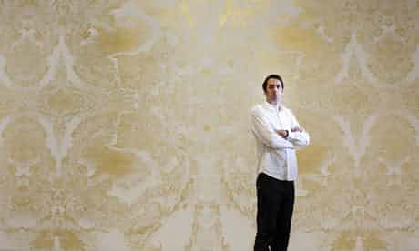 """The Guardian, 8 December 2009: """"In a few weeks, his Turner prize-winning golden fresco will be painted over. Richard Wright reveals why that's OK by him."""" Photo: David Levene."""