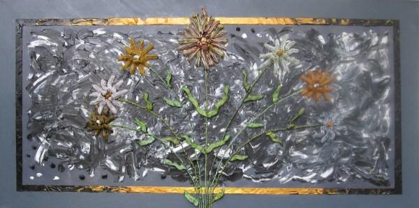FLOWERS FOR ALGERNON │ 2012 │ Acrylics and oils on canvas │ 50 x 100 cm