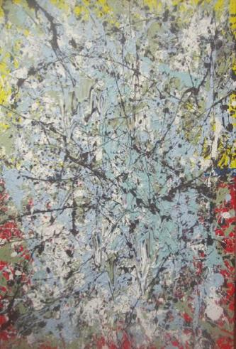 With Tereza │ KOLEM SE TOČ │ 2015 │ Acrylic and eggshell paint on canvas │ 91 x 61 cm