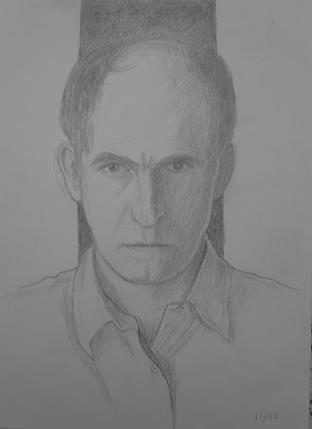 Self portrait, November 1995, pencil on paper