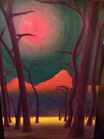 Red Moon, oils on canvas, c. 1965