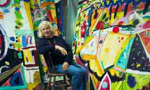 """The Guardian, 11 April 2018, obituary: """"One of Britain's most popular abstract painters known for her huge vibrant canvases bursting with colour."""" Photograph: Antonio Olmos."""