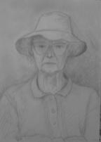 Tessie, April 1996, pencil on paper