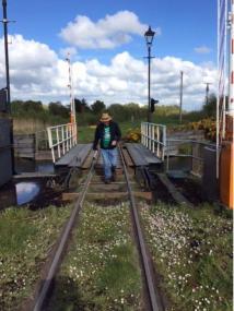 Peat bog railway, looking north