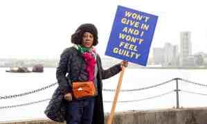 "The Guardian, 12 February 2020: ""Sonia Boyce first black woman to represent Great Britain at Venice Biennale."" Photograph: David Levene."