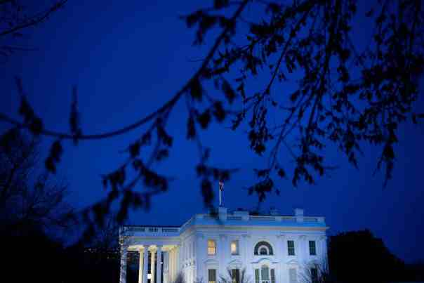 A view of the White House on 11 March when Donald Trump made a primetime address about the coronavirus crisis. Photograph: Brendan Smialowski/AFP via Getty Images