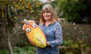 """Guardian, 17 December 2020: """"How Julia Donaldson conquered the world, one rhyme at a time."""" Photo: David Levene."""