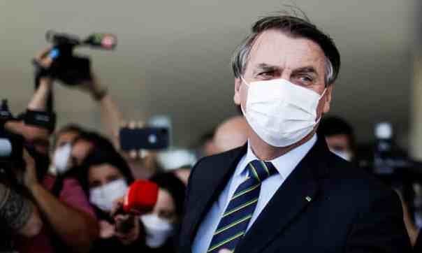 Bolsonaro in March. Brazil's official death toll is more than 345,000. Photograph: Ueslei Marcelino/Reuters