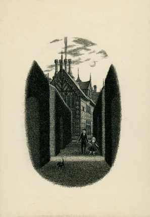 UNCLE SILAS, 'We walked in silence to the balustrade,' undated