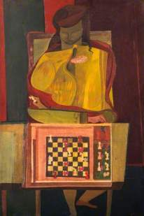 Robert MacBryde: The Chess Player, 1944. Oil on canvas, 76.2 x 51.3 cm. National Galleries of Scotland