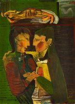 Robert Colquhoun: Actors on a Stage, 1945   Private Collection