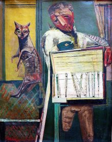 Robert Colquhoun: The Whistle Seller,1945   Private Collection