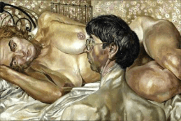 STANLEY SPENCER Self-portrait with Patricia Preece, 1937, 61 x 91.2 cm, The Fitzwilliam Museum