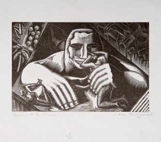 Pharoah's Icon (also known as Caesar and Slave), 1925. Wood engraving on paper