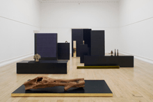 Installation view of Paysage avec poussin. Photo by Andy Keate.