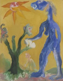 Woman and plant, 1992, oil on canvas, 145.5 x 113 cm