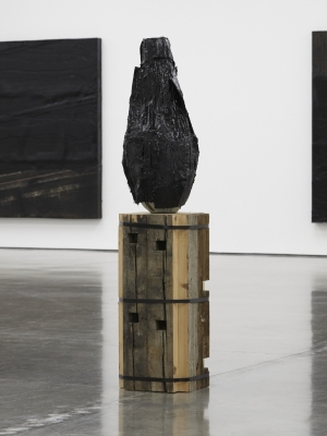 Covered vessel, 2015. Glazed clay, tar and asphalt roofing membrane. Photo: George Darrell