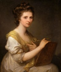 Angelica Kauffmann, oil on canvas, c. 1770-1775, National Portrait Gallery
